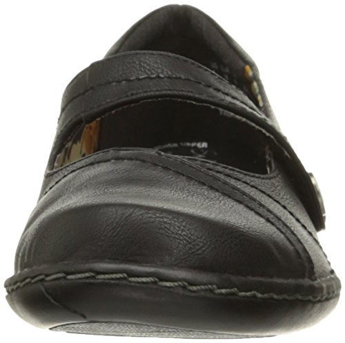 Jane Leather Hush Puppies Flat Jayne Doux Par Mary Style Black anvRF