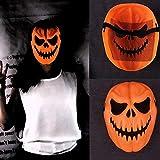 Best Goodtrade8 The Halloween Masks - Orange Funny Halloween Pumpkin Mask for Women Men Review