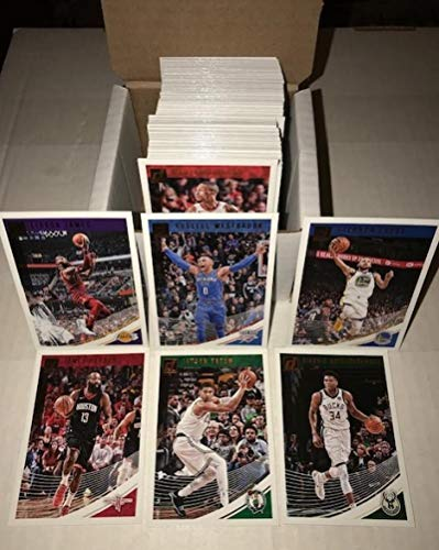 2018-19 Donruss Complete Hand Collated Veterans NBA Basketball Set of 150 Cards - NO ROOKIE CARDS. Overall Condition is NM-MT FREE SHIPPING TO THE USA. IF YOU ARE PAYING 6.99 FOR SHIPPING TO THE UNITED STATES YOU'RE PAYING TOO MUCH This set includes LeBron James Stephen Curry Kyrie Irving Kevin Durant Jamal Murray James Harden Ben Simmons Lonzo Ball Donovan Mitchell Jayson Tatum Oladipo and More.