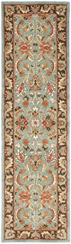 (Safavieh Heritage Collection HG812B Handcrafted Traditional Oriental Blue and Brown Wool Runner (2'3