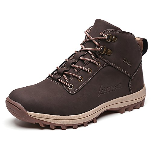 5a13b51f35f Men's Hiking Boots Outdoor Trekking Shoes Climbing Moutain Sneakers  (US-9.5, Brown)