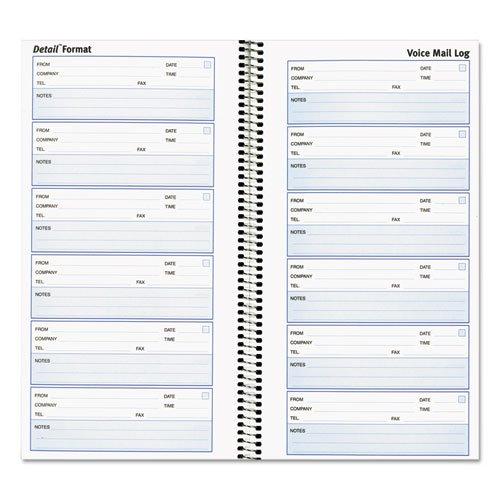 (51113 Rediform Voice Mail Log Book - 600 Sheet(s) - Wire Bound - 1 Part - 10.62