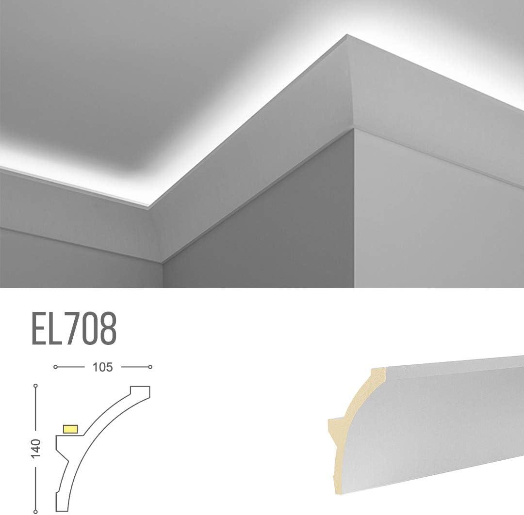 Marco para iluminación indirecta LED de techo - EL708 (2 metros): Amazon.es: Iluminación