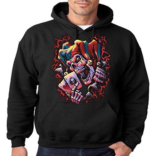 Evil Clown Hoodie Wicked Jester Liquid Blue Mens Hooded Sweatshirt S-3XL (Black, 3XL)]()