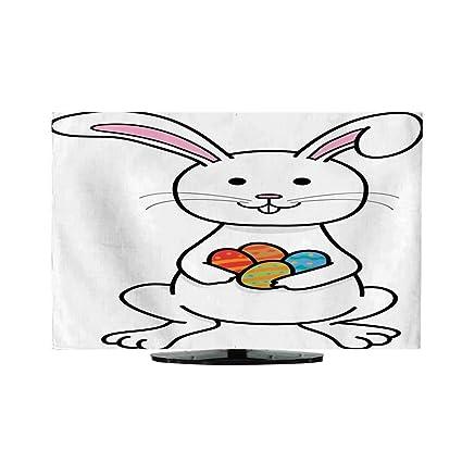 Amazon com: Indoor TV CoverThanksgiving Easter Bunny