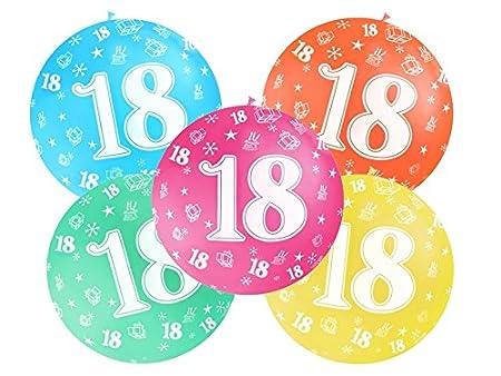 Globo Globo 1 metro de látex Número 18 cumpleaños 18 años ...