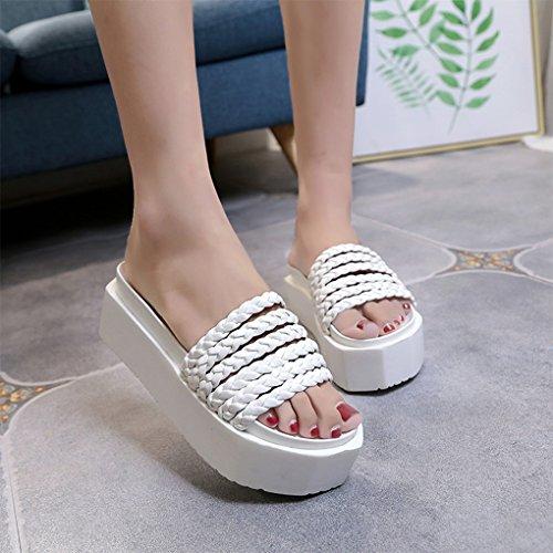 Blanco Kyle de Zapatos Sandalias para Walsh Zapatillas Mujer Gruesa Casual Plataforma AqAvw