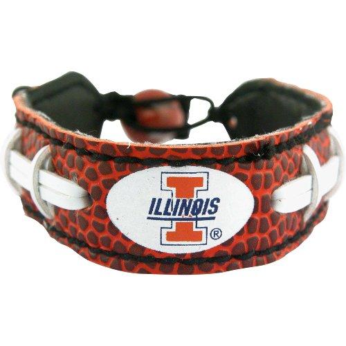 - NCAA Illinois Illini Classic Football Bracelet