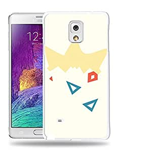 Case88 Designs Pokemon Togepi Protective Snap-on Hard Back Case Cover for Samsung Galaxy Note 4
