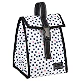 SCOUT Doggie Bag Insulated Lunch Box & Soft Cooler, PVC-free, Water Resistant, Guys and Dots