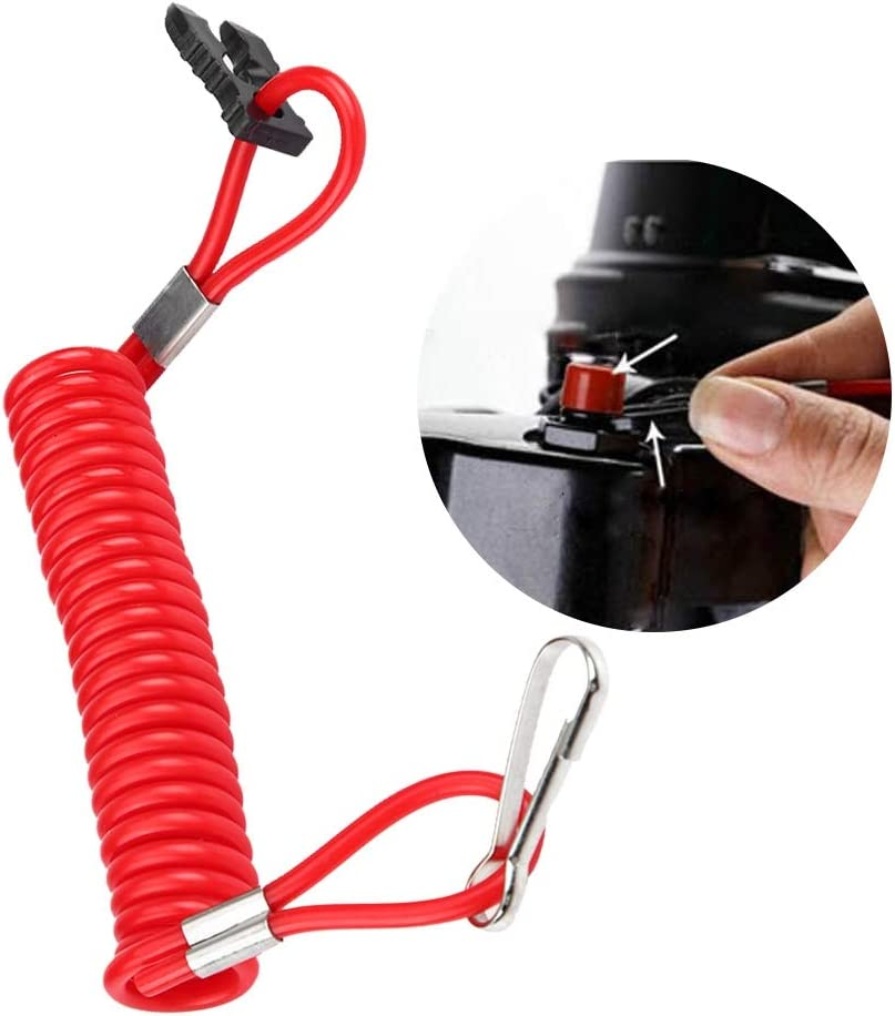 Acouto Outboard Engine Ignition Emergency Kill Stop Switch Safety Tether Lanyard for Honda