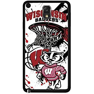 University of Wisconsin Badgers Red, Black, and White College Basketball Sports Hard Snap on Phone Case (Note 3 III)