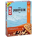 CLIF Whey Protein - Snack Bar - Peanut Butter & Chocolate - 1.98 Ounce, 8 Count