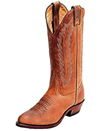 Boulet Western Boots Womens Cowboy Leather Hill Billy Golden 9026