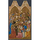 Perfect effect canvas ,the High quality Art Decorative Canvas Prints of oil painting 'Jacopo di Cione and workshop Adoring Saints Left Main Tier Panel ', 8 x 14 inch / 20 x 35 cm is best for Bar gallery art and Home gallery art and Gifts