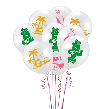 Amosfun Hawaiian Theme Latex Balloons Kit 24 unids Lindo ...