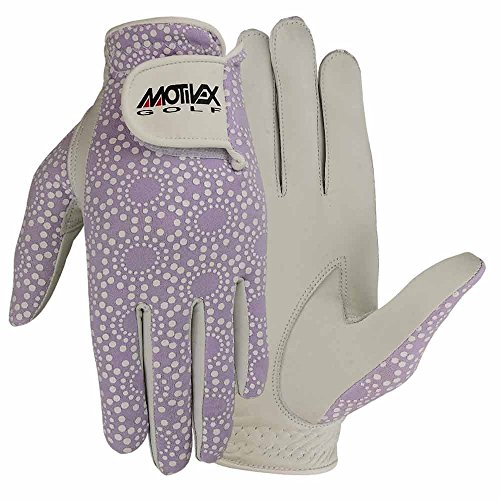 MRX BOXING & FITNESS Womens Golf Glove Soft Cabretta Leather Regular Fit Women Golfer Gloves Left Hand (Purple-Small)