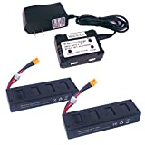 Wwman 2pcs 7.4V 1800mah 25C Battery And 1to2 7.4V Battery Charger For MJX B3 Bugs 3 Rc Quadcopter Drone Spare Parts