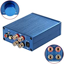 2 Channel Stereo Audio Amplifier Mini Hi-Fi Professional Amp for Home Speakers 50W x 2 (Version1.0 Blue)