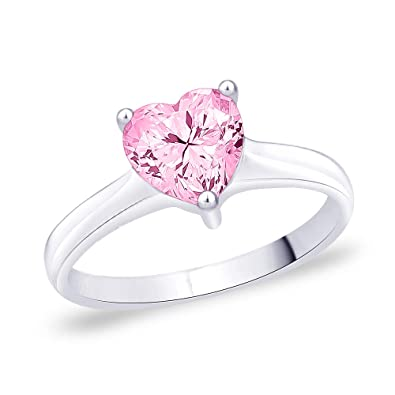 Buy Peora 925 Sterling Silver Rhodium Plated Brush Pink
