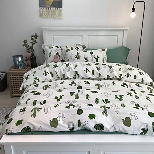 HORIMOTE HOME Boys Duvet Cover Twin, 100% Cotton Bedding, Cactus Icon Pattern Reversible Printed Cute Carton Blue Duvet Cover for Kids,69