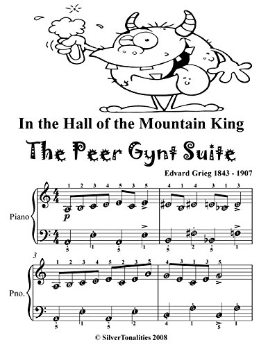 In the Hall of the Mountain King the Peer Gynt Suite Easy Piano Sheet Music Tadpole Edition -