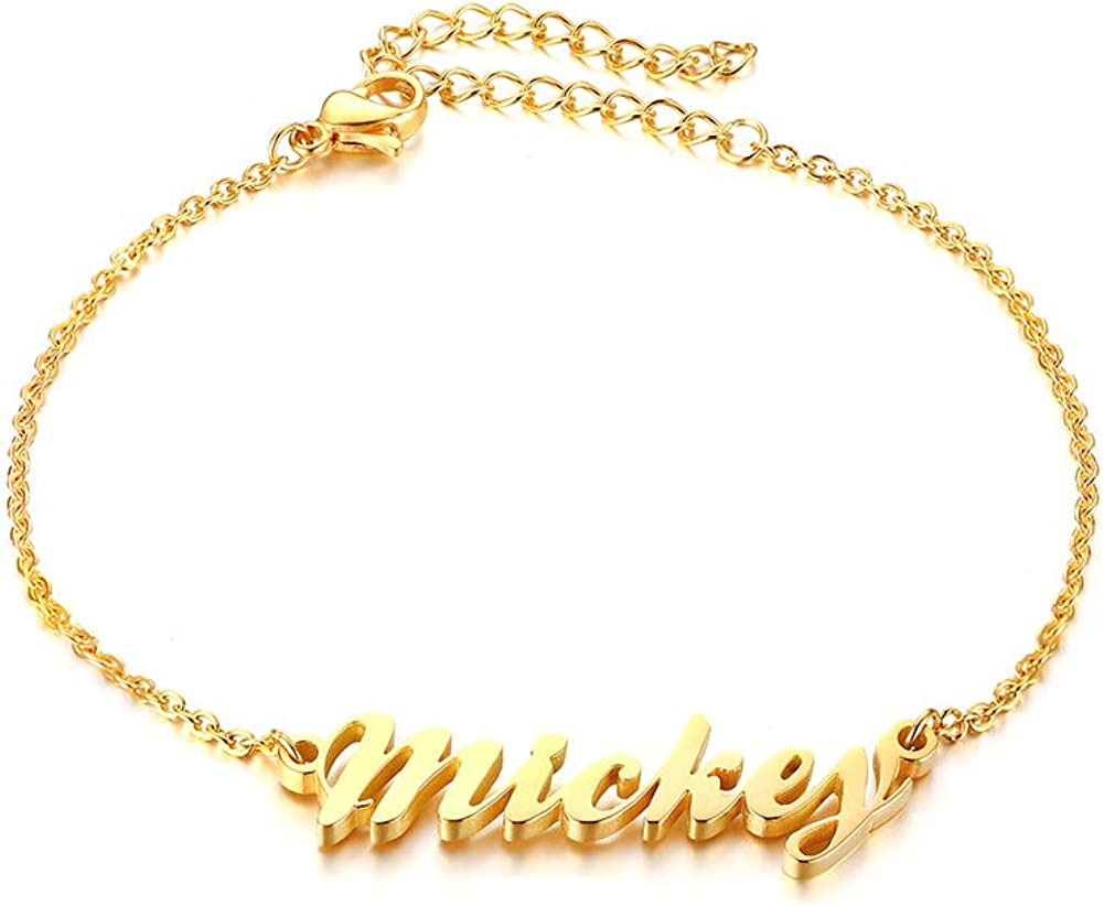 Custom Jewelry Gold Plated Custom Name Bracelet 14 Fonts Style To Choose Customize Your Name Bracelet Any Name Bracelet Custom Bracelet