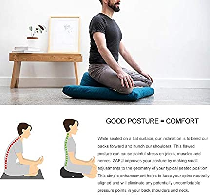 ALEILA Cojín de meditación Zafu, Funda de Yoga extraíble ...