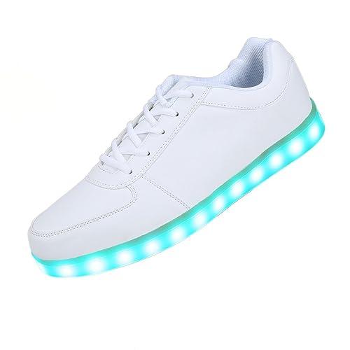Lumineux Sports De Clignotants Chaussures Sneakers Homme Baskets Couleur Charge Usb Ilory Mode Unisexe Femme Led Lumière 8n0mvwNO