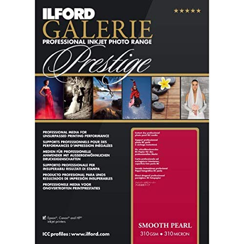 ILFORD GALERIE Prestige Smooth Pearl - 13 x 19 Inches, 25 Sheets (2001750) 13x19 Inch 25 Sheets