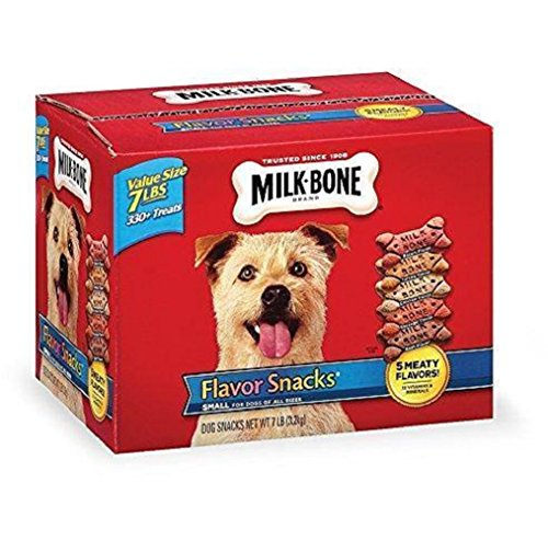 Milk-Bone Flavor Snacks Crunchy texture helps clean teeth and freshen breath Dog Biscuits for Small/Medium Dogs, ()