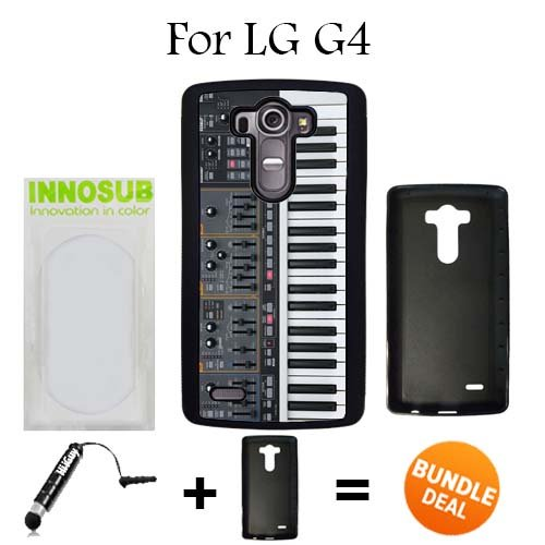 LG G4 Case, Synthesizer Black Rubber Case, Premium Bundle 2in1 Comes With Universal Stylus Pen by ()