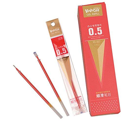 - JUIOKK Gel Ink Pens Refills,40PCS Black/Red Ink 0.5mm Needle Tip Liquid Fine Point Roller Ball Gel Pen Refills