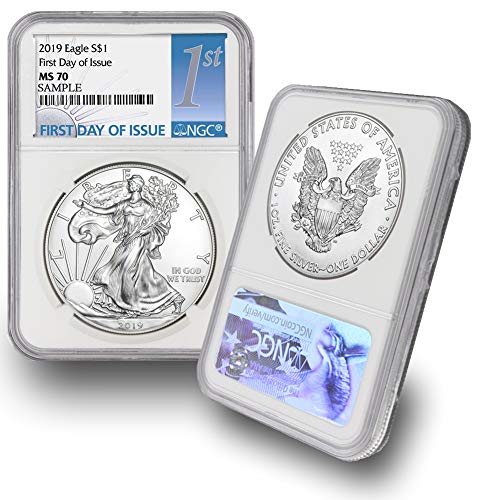 - 2019 American Silver Eagle $1 MS70 NGC First Day of Issue