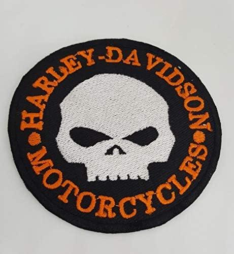 Parche bordado para motocicleta o moto Harley Davidson