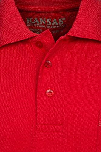FRISTADS KANSAS Match Poloshirt Polo Herren Polohemd T-Shirt Rot 100780 331