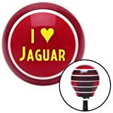 American Shifter 114295 Red Stripe Shift Knob with M16 x 1.5 Insert (Yellow I <3 JAGUAR)