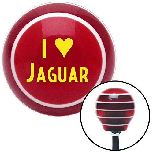 American Shifter 114295 Red Stripe Shift Knob with M16 x 1.5 Insert (Yellow I <3 JAGUAR) by American Shifter