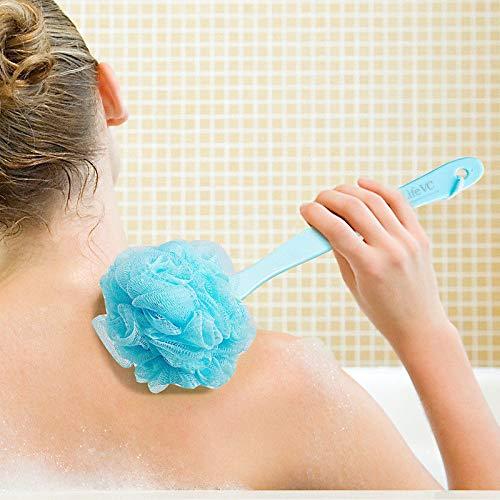Long Handle Hanging Soft Mesh Back Body Bath Shower Scrubber Brush Sponge New ()