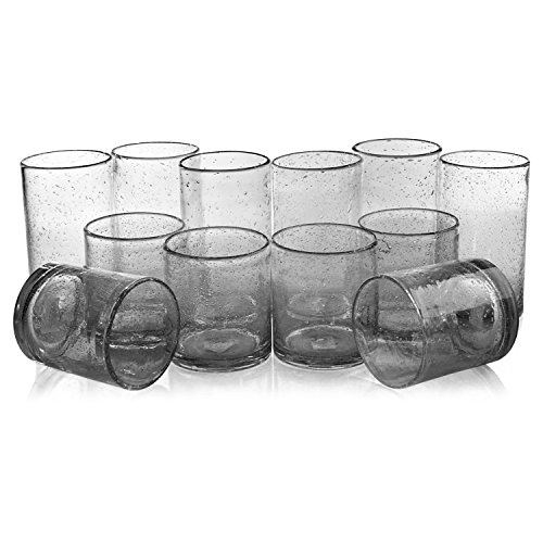 Bubble Clear Glass (Artland Iris Clear Seeded 12 Piece Double Old Fashioned Glass and Highball Tumbler Set)