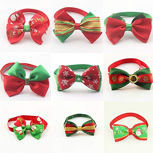 Christmas Pet Dog Cat Collar Accessory Dogs Festival Bow Ties Dog Tie Pet Jewelry Accessories Wholesale Pet Supply Products
