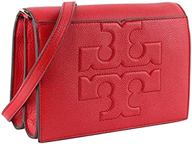 ddbf9caf504 Image Unavailable. Image not available for. Color  Tory Burch Bombe T Cross  Body Bag Liberty Red