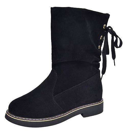Stiefel Damen Boots Halten Warme Winterschuhe Frauen Wildleder Runde Zehe  Schuhe Booties Freizeitschuhe Baumwollschuhe ABsoar  Amazon.de  Bekleidung 6f0b2fbea9
