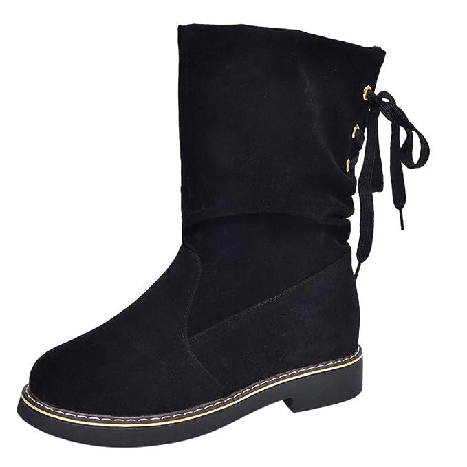 1fb815cc8add4 Amazon.com: Memela Womens Mid-Calf Boots Riding Boots Snow Boots ...