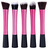 Youngman 5 Pcs Powder Blush Foundation Contour Makeup Brushes Set Cosmetic Tool