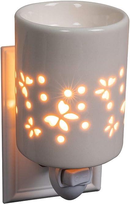 SOOTOP Quemador de Cera El/éctrico 3D Difusor de Aromaterapia de Vidrio Quemador de Aceite Calentador de Fragancia Fundidor para Oficina en Casa Dormitorio Sala