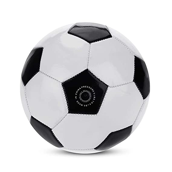 Fishlor Pelota de fútbol clásica, tamaño 4 Clásico Negro Blanco ...