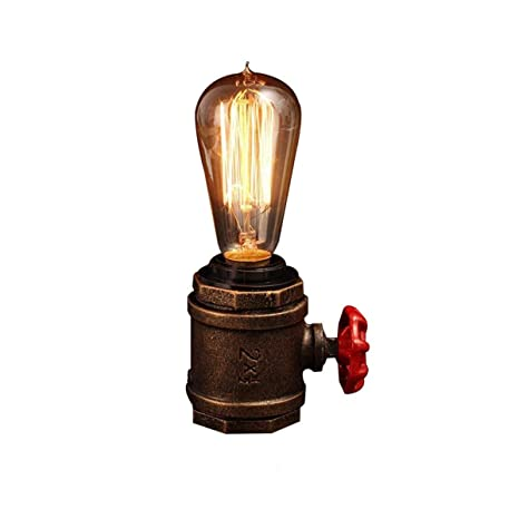 Industrial Steampunk Table Pipe Lamp Vintage Desk Lamp Edison Table
