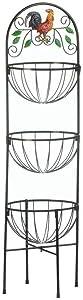 """Rooster 3-Tier Kitchen Basket 12x12x43.5"""""""