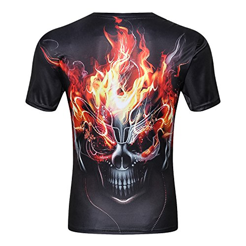 Skull 3D Print T Shirt Multiple Designs Short Sleeve Creative Fashion (CC0019, M) by Fever (Image #2)